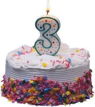 grattis 3 Grattis bloggen som fyller 3 år!   Barnvagnsblogg grattis 3