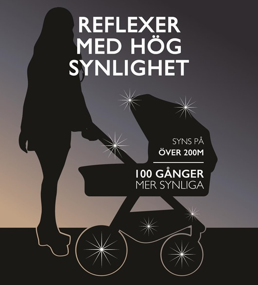 Pogu-barnvagnsreflexer