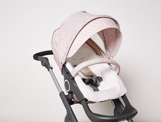 Stokke Stroller Summer Kit Faded Pink 141113-1245 with Trailz Chassis Beige Melange