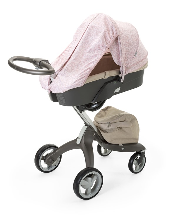 Stokke® Stroller Summer Kit Scribble Faded Pink with Stokke® Xplory® chassis, Beige Melange