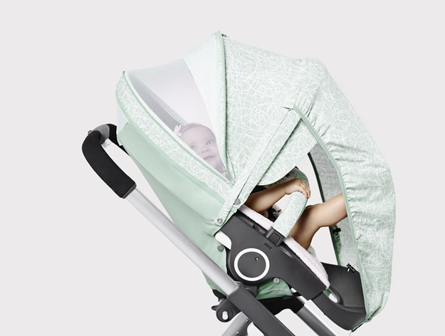 Stokke Stroller Summer Kit Scribble Salty Blue with Crusi Chassis 141113-0767