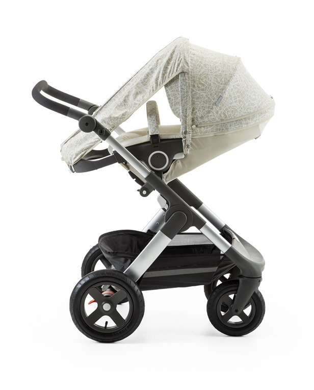 Stokke® Stroller Summer Kit Scribble Sandy Beige with Stokke® Trailz™ chassis