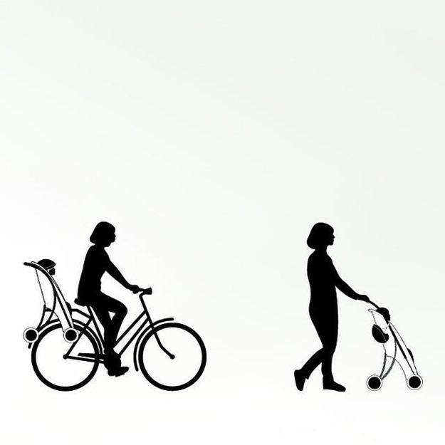 Påhoj-cykelstol-barnvagn