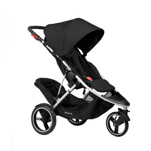 DASH-3qtr-double-stroller-black